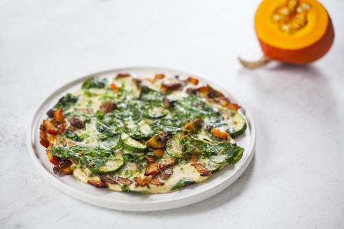 zeleninovo houbová keto omoleta